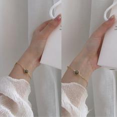 Lắc tay nữ JK Silver Korea Design mạ vàng 18K – kiểu dáng trendy trẻ trung