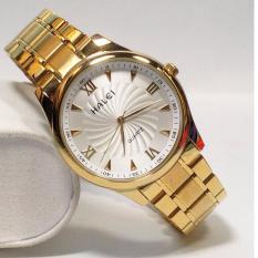 Đồng hồ nam HALEI 6366SXH dây thép không gỉ cao cấp ( Mặt trắng )