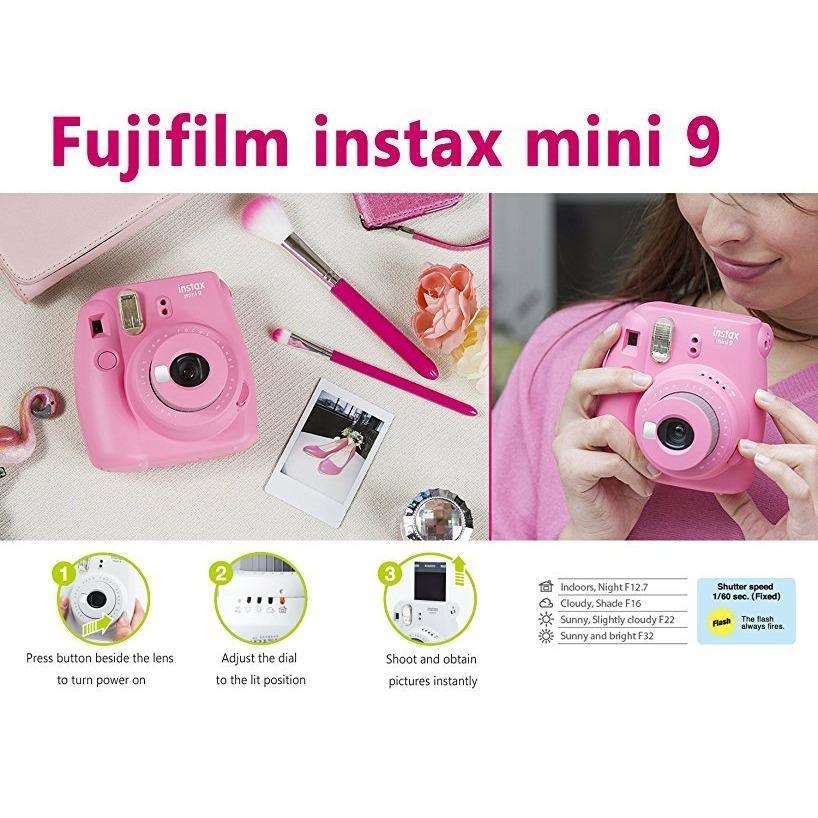 Máy Ảnh Fujifilm Instax mini 9 Flamingo Pink
