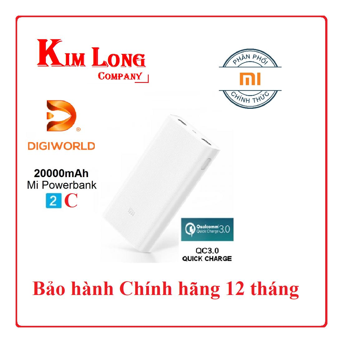 Pin dự phòng Xiaomi 20000mAh Gen 2C Phiên bản mới nhất – Digiworld phân phối chính thức Đang Bán Tại CÔNG TY KIM LONG
