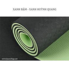 Thảm tập Yoga TPE 2 lớp Eco Friendly dày 8mm + Tặng túi đựng thảm và dây buộc đeo thảm (TPE Yoga Mat)