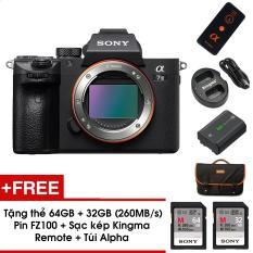 Máy ảnh Sony ALpha A7 mark III – Body – Màu đen – Tặng Thẻ nhớ 64GB (260MB/s) + Thẻ 32GB (260MB/s) + Pin FZ100 + Sạc kép Kingma + Remote + Túi + Dán màn hình – Hàng chính hãng