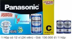 Pin C Panasonic (pin trung) – Hộp 12 vỉ (24 viên) – Made in Indonesia
