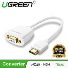 Bộ chuyển đổi HDMI sang VGA (không có Audio) độ phân giải 1920*1080@60Hz (Max) dài 16cm UGREEN MM102