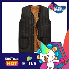 Áo khoác phao nam gile trần bông thời trang DODACO DDC2060 (Đen)