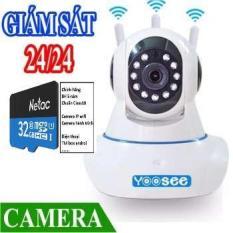 Camera YooSee IP Wifi 3 Râu Tặng Thẻ Netac 32GB – Camera Yoosee