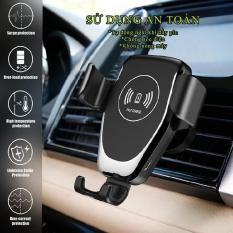 Đế sạc nhanh không dây trên ô tô công xuất 10W tích hợp cảm biến thông minh chuẩn Qi cho iphone X , iphone 8, Samsung S7/9, Note5/8