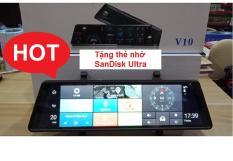 Camera Hành Trình Gương 10 inch 4G Full chức năng + Tặng thẻ nhớ 32G SanDisk Ultra