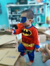 đồ bộ siêu nhân cực chất cho bé kèm áo choàng và mặt nạ NĐ001 ( Có ảnh thật )