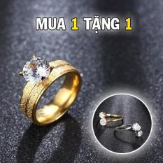 MUA 1 TẶNG 1 NHẪN NỮ TITANIUM CỰC ĐẸP