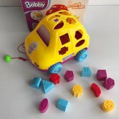 Đồ chơi thông minh Xe thả hình khối bằng nhựa an toàn MonShop