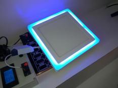 Đèn Led ốp nổi trần 2 màu 3 chế độ 12+ 4w tròn/vuông