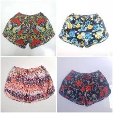 Combo 4 quần short nữ thun lạnh size 51 – 60kg (màu như hình)