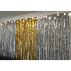 Rèm kim tuyến màu vàng trang trí background các tiệc sinh nhật , đám cưới ,khai trương,…
