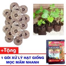Bộ 100 viên nén dùng ươm hạt + Tặng gói xử lý hạt giống mọc mầm nhanh
