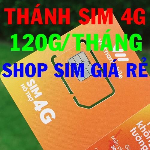 Thánh sim 4G Vietnamobile FREE 120Gb/tháng - Shop Sim Giá Rẻ - Thánh sim giá sỉ
