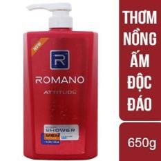 Romano – sữa tắm cao cấp dành cho nam Romano Attitude 650g