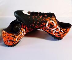 Giày đá bóng CR7 loang VN218-khâu full-sấn nhân tạo-cam