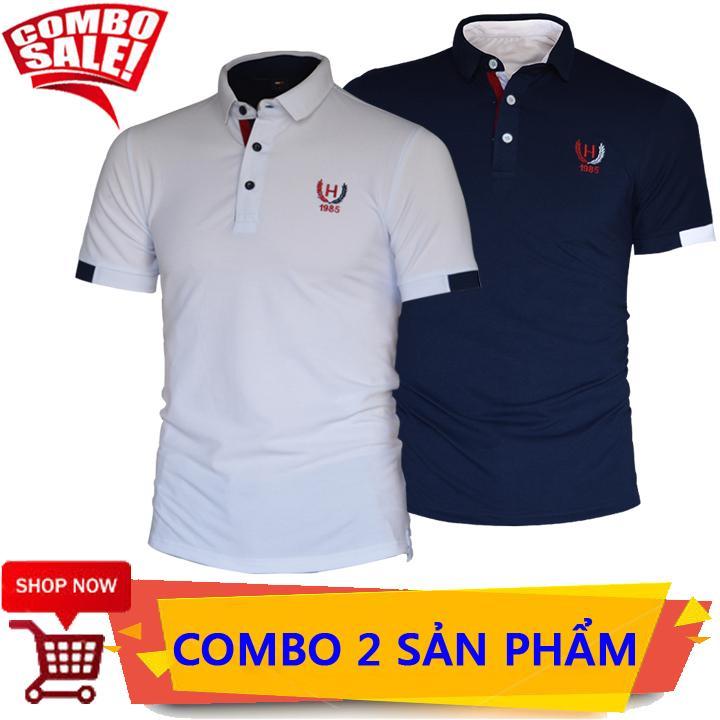 Giá COMBO 2 Áo Thun Nam Thêu Logo 1985 Cực Đẹp Tại Chất Shop