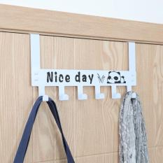 Móc Treo Quần Áo Gắn Sau Cánh Cửa, Móc Treo Quần Áo Tháo Lắp Tiện Lợi, Sơn Tĩnh Điện, Nice Day Hook Door