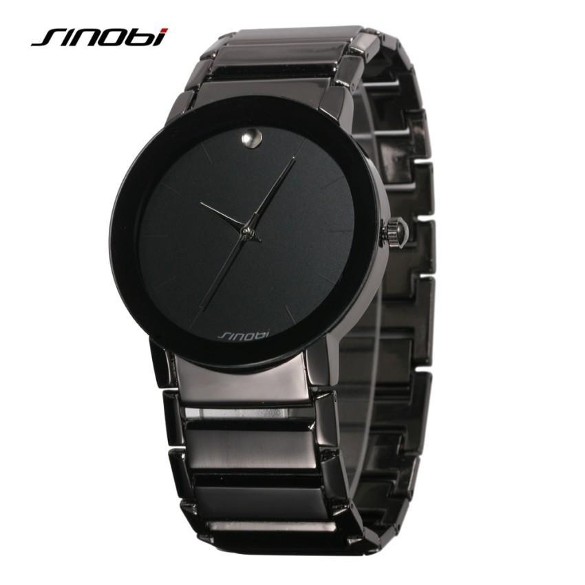 Đồng hồ nam Sinobi dây thép 9106