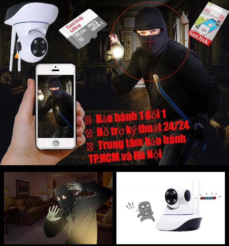 Lap Camera Tai Hai Phong, Camera Siêu Nét Giám Sát 24/24 HDVI1468, các loại camera mini – Camera Cao Cấp 1080P Giá Cực Sốc + Kèm thẻ nhớ 16G Sandisk Ultra Class 10 48Mb/s