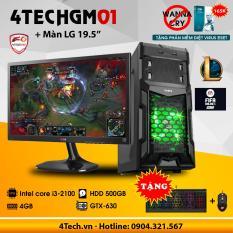 Máy tính để bàn chơi Game 4TechGM01 core i3, ram 4GB, hdd 500gb, vga rời GT730, màn 19.5inch (chuyên LOL, Fifa) – Tặng phím chuột Gaming DareU.