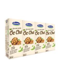 Thùng 48 hộp Sữa đậu nành Vinamilk hạt Óc chó – Lốc 4 hộp x 180ml (sản phẩm mới)