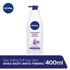 Sữa dưỡng thể giúp săn da, dưỡng trắng Nivea ban đêm 400ml _ 88126