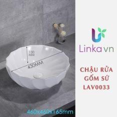 Chậu rửa lavabo gốm sứ nghệ thuật LAV0033 – Sắc trắng tinh khôi