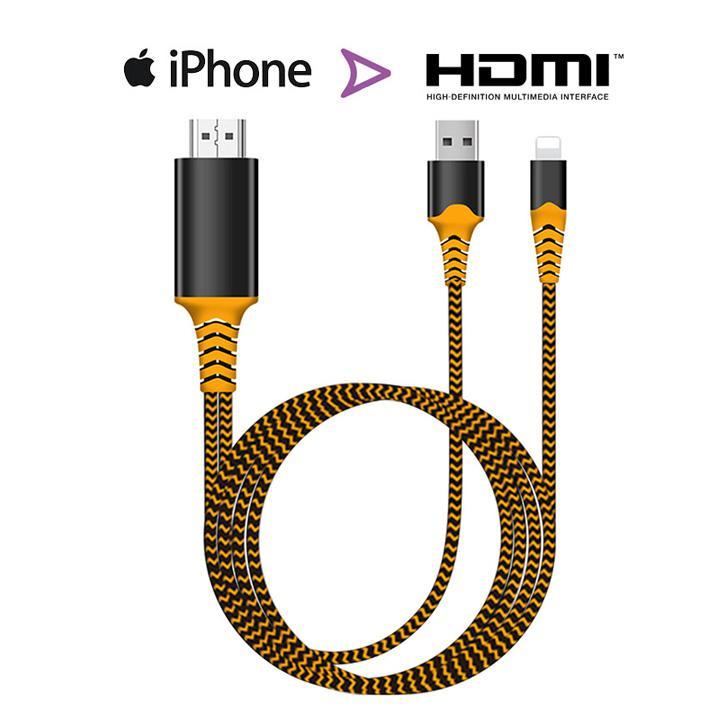 Cáp kết nối Iphone, Ipad với Tivi cổng HDMI - Lightning to HDTV - Hàng cao cấp