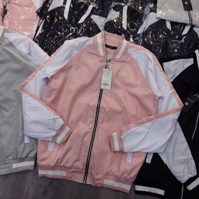 Áo khoác dù nam nữ phong cách teen CNV B030(Hồng)