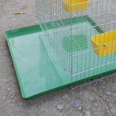 Khay vệ sinh cho chim cảnh (khay nhựa màu xanh) – khay hứng kít lồng chim, lồng chó mèo ( 50x50cm) – Dùng cho Chim, gà, mèo chó, thỏ, nhím – hanpet 603f