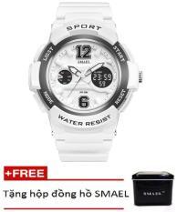 Đồng hồ điện tử thể thao unisex (nam – nữ) SMAEL dây Silicon PKHRSM011