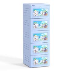 Tủ nhựa Duy Tân TANO 5 tầng ( Dương – Hoa văn ngẫu nhiên )