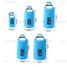 Túi chống nước tuyệt đối 100% – 2L đựng đồ đi biển, dã ngoại, đeo chéo vai, đồ thể thao chuyên dụng cao cấp – DONGGIA