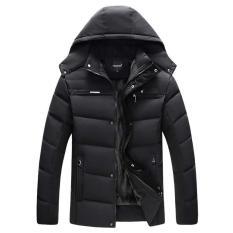 LB Winter Men Jacket Cotton Padded Parka Hooded Outwear with Velvet Down Coat XL-4XL