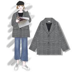 Áo Blazer dạ caro (C02)-Hàng có sẵn