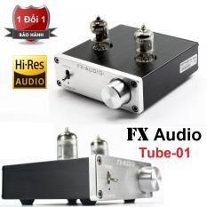 FX Audio TUBE-01 6J1 [Preampli Đèn] Nâng Cấp Chất Lượng Âm Thanh (đen)