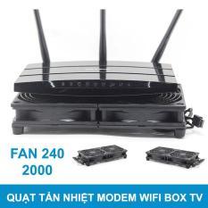 Quạt tản nhiệt modem router wifi box tv USB 5V 2000 kép