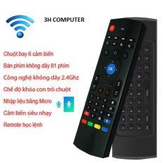 Chuột Bay Hổ Trợ Giọng Nói Có Mic ,Kiêm Bàn Phím cho tvi box ,máy tính .laptop,tivi