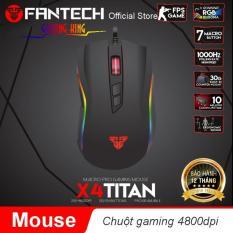 Chuột Gaming Fantech TITAN X4S ( LED Chroma + phần mềm riêng )