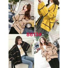 Áo khoác cardigan len kẻ dáng rộng (big size) cao cấp – CITA0160