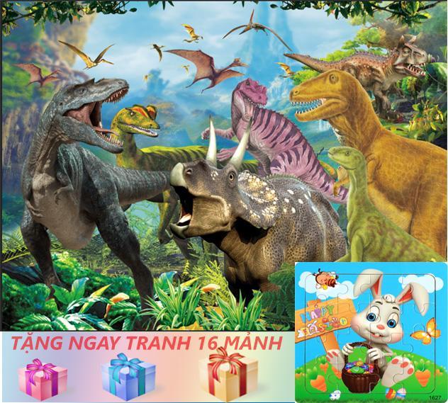 Tranh ghép gỗ 100 miếng - Công viên Khủng Long 3 - Jurassic Part 3