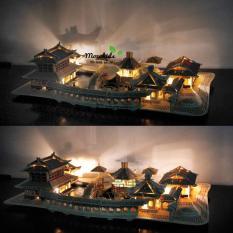 Đồ chơi lắp ráp gỗ 3D Mô hình Nhà Tô Châu – Tặng kèm Đèn LED trang trí