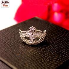 Nhẫn mặt nạ đá màu bạc XM007