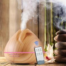 Máy phun sương khuếch tán tinh dầu búp sen 500ml ( có điều khiển) + tặng tinh dầu xả chanh 10ml