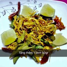 Khô gà lá chanh loại 1 Lày Hòa (bịch ziper 500gr)