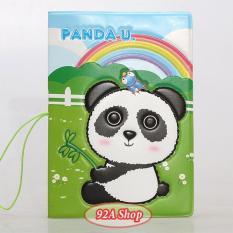 Vỏ hộ chiếu Passport Gấu Panda 3D