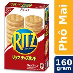 Bánh Quy RITZ Kẹp Kem Phô Mai 160g (Hàng Xuất Khẩu Thị Trường Nhật)